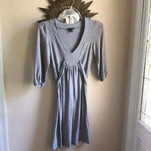 Heather grey 3/4 sleeve dress
